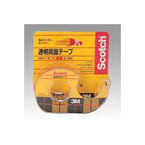 (業務用セット) 住友スリーエム スコッチ(R)透明両面テープ 裏紙(はく離紙)なし 665-3-24 1巻入 【×2セット】