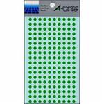 【訳あり・在庫処分】(業務用セット) エーワン カラーラベル 丸型5mm径 07063 緑 1P9シート(1800片)入 【×10セット】