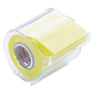 (業務用セット) ヤマト メモックロールテープ 本体(再生紙) NOR-50CH-1 黄 1個入 【×10セット】