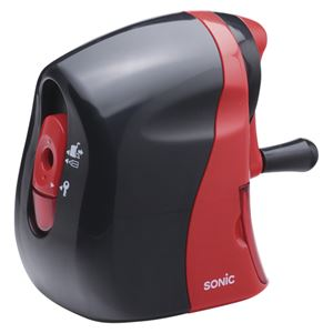 (業務用セット)ソニックかるハーフ手動鉛筆削りSK-802-R黒/赤1個入【×2セット】