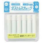 (業務用セット) 日本理化学 ダストレスチョーク DCC-6-W 白 6本入 【×30セット】