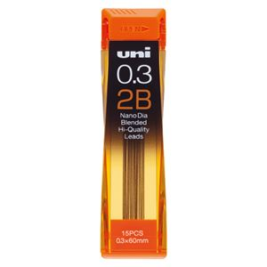 (業務用セット) 三菱鉛筆 ユニ ナノダイヤ 0.3mm芯(15本入) U03202ND-2B 【×10セット】