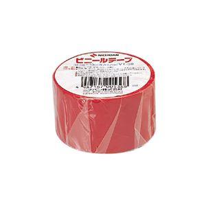 (業務用セット) ニチバン ビニールテープ 幅38mm×長10m VT-381 赤 1巻入 【×10セット】
