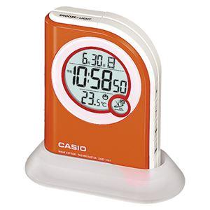(業務用セット) カシオ 懐中電灯付き電波クロック DQD-410J-4JF オレンジ 1個入 【×2セット】 - 拡大画像
