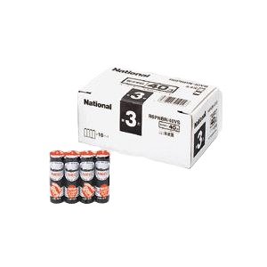 (業務用セット)パナソニックマンガン乾電池パナソニックネオ(黒)オフィス電池R6PNBN/40VS(40本入)【×3セット】