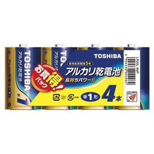 (業務用セット)東芝TOSHIBAアルカリ乾電池お買得パックLR20L4MP4本入【×3セット】