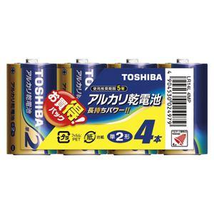 (業務用セット)東芝TOSHIBAアルカリ乾電池お買得パックLR14L4MP4本入【×5セット】