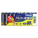 (業務用セット) 東芝 TOSHIBA アルカリ乾電池 お買得パック LR6L10MP 10本入 【×10セット】