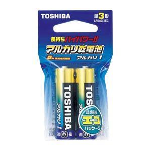 (業務用セット) 東芝 TOSHIBA アルカリ乾電池 アルカリ1 LR6AG2EC 2本入 【×10セット】 - 拡大画像