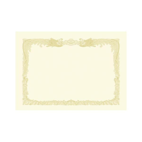 (業務用セット) 厚口OA賞状用紙 クリーム・縦書き 10-1287 10枚入 【×2セット】f00