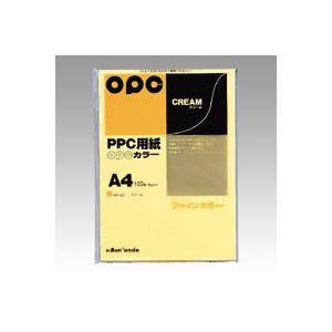 (業務用セット) 文運堂 ファインカラーPPC A4判 カラー332 クリーム 100枚入 【×10セット】 h02