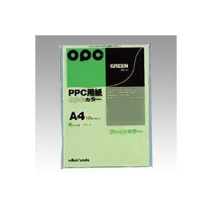 (業務用セット) 文運堂 ファインカラーPPC A4判 カラー336 グリーン 100枚入 【×10セット】 h01