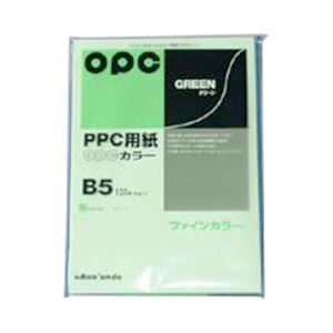 (業務用セット) 文運堂 ファインカラーPPC B5判 カラー326 グリーン 100枚入 【×10セット】 h01