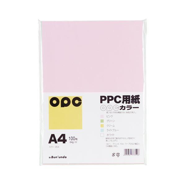 (業務用セット) 文運堂 ファインカラーPPC ミックス A4判 カラー354 ピンク グリーン クリーム ライトブルー ホワイト(各20枚) 100枚入 【×5セット】f00