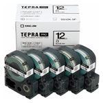 キングジム テプラPROテープエコパック 12mm 白ラベル 5個入 SS12K-5P