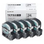 キングジム テプラPROテープエコパック 白ラベル 5個入 SS24K-5P