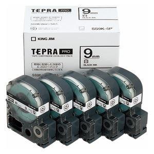 キングジム テプラPROテープエコパック 白ラベル 5個入 SS9K-5P