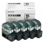 キングジム テプラPROテープエコパック 透明ラベル5個入 ST18K-5P