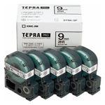 キングジム テプラPROテープエコパック 透明ラベル5個入 ST9K-5P