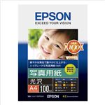 エプソン 写真用紙<光沢>A4判 100枚 KA4100PSKR