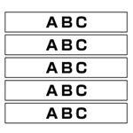 ブラザーHGeテープ 36mm 白 黒文字 5個入 HGE-261V