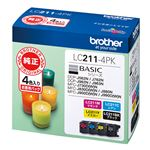 ブラザーインクカートリッジ 4色パック LC211-4PK