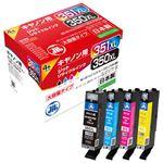 ジット リサイクルインク キヤノンBCI-351350XL互換 4色 JIT-C3503514PXL