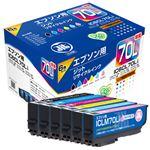 ジット リサイクルインクカートリッジ IC6CL70L互換6色パック JIT-E70L6P