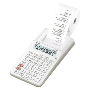 カシオ プリンター電卓 ホワイト HR-8RC-WE