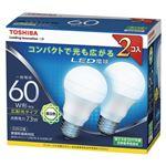 東芝 LED電球 一般電球形 広配光タイプ 810lm 昼白色2P LDA7N-G-K/60W-2P