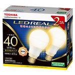 東芝 LED電球 一般電球形 全方向タイプ 485lm 電球色2P LDA5L-G/40W-2Pの画像
