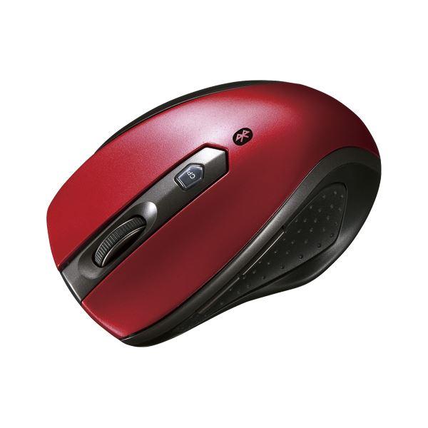 サンワサプライ Bluetooth3.0 ブルーLED静音マウス レッド MA-BTBL28R