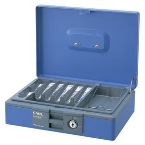 カール事務器 キャッシュボックス ブルー CB-8400-B
