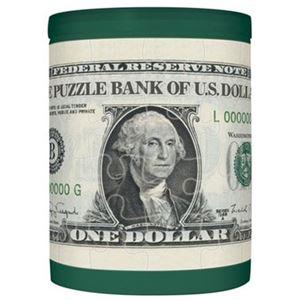 やのまん パズルDE貯金箱・1ドル 【ジグソーパズル】