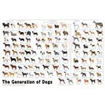 エポック社 1000P 犬の系統図【ジグソーパズル・パネル】
