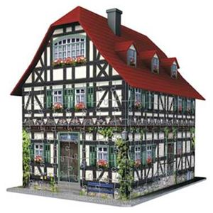 カワダ 125722 3Dパズル 中世の家屋 【ジグソーパズル】
