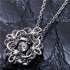 【鑑別書付】K18ホワイトゴールド 天然ダイヤネックレス ダイヤモンドペンダント/ネックレス0.13ct フラワーモチーフ f04