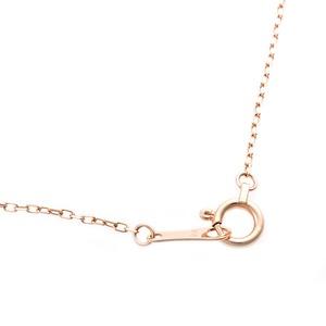 【鑑別書付】K18ピンクゴールド 天然ダイヤネックレス ダイヤモンドペンダント/ネックレス0.11ct キーモチーフ h03