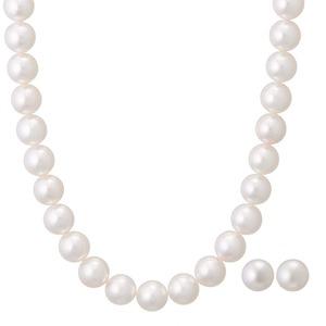 アコヤ真珠 ネックレス オーロラ花珠 真珠セット パールネックレス ピアスセット 8.0‐8.5mm珠 あこや真珠 真珠科学研究所 鑑別書付き