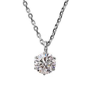 ダイヤモンド ネックレス 一粒 K18 ホワイトゴールド 0.3ct ダイヤネックレス シンプル ペンダント - 拡大画像