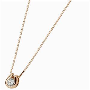 K18ピンクゴールド 天然ダイヤモンドペンダント/ネックレス ダイヤ0.1CT h02