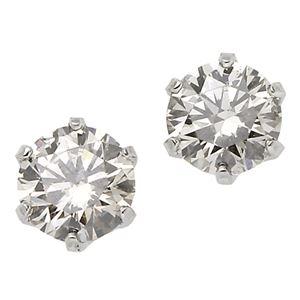 ダイヤモンド ピアス 一粒 プラチナ Pt900 0.3ct スタッドピアス ダイヤピアス 0.3カラット シンプル - 拡大画像