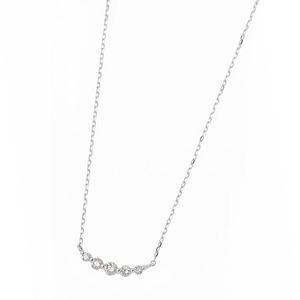 ダイヤモンド ネックレス K18 ホワイトゴールド 0.3ct 5粒 5ストーン ダイヤネックレス 0.3カラット ペンダント f04