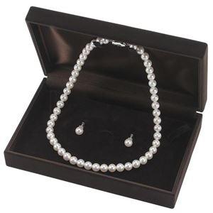 アコヤ真珠 ネックレス オーロラ花珠 真珠セット パールネックレス イヤリングセット 8.0‐8.5mm珠 あこや真珠 真珠科学研究所 鑑別書付き