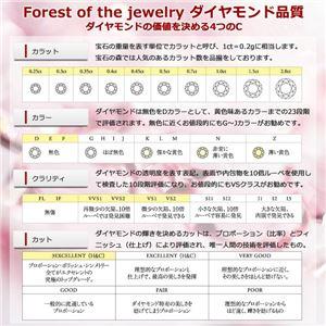 【鑑別書付】プラチナPT900 天然ダイヤリング 指輪 ダイヤ0.20ct 12.5号 ハーフエタニティリング h03