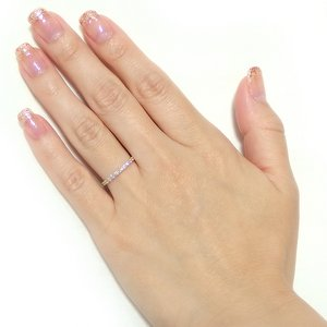 【鑑別書付】K18イエローゴールド 天然ダイヤリング 指輪 ダイヤ0.30ct 9.5号 ハーフエタニティリング h02