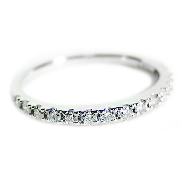 【鑑別書付】プラチナPT900 天然ダイヤリング 指輪 ダイヤ0.30ct 12号 ハーフエタニティリングf00
