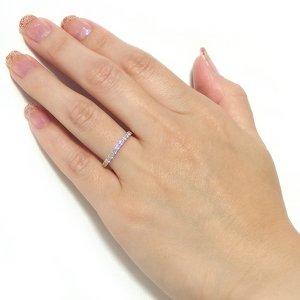 【鑑別書付】K18イエローゴールド 天然ダイヤリング 指輪 ダイヤ0.50ct 10号 ハーフエタニティリング h02