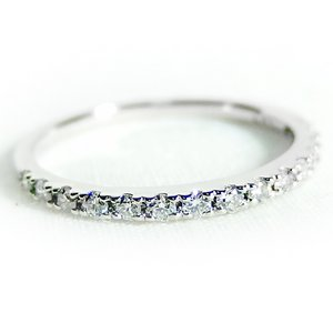 プラチナPT900 天然ダイヤリング 指輪 ダイヤ0.20ct 12.5号 Good H SI ハーフエタニティリング - 拡大画像