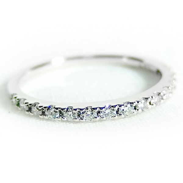 プラチナPT900 天然ダイヤリング 指輪 ダイヤ0.30ct 11.5号 Good H SI ハーフエタニティリングf00